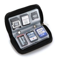 Wholesale 5* ( 22 slots case pouch holder wallet for SD SDHC MMC CF Micro SD Memory Card(China)