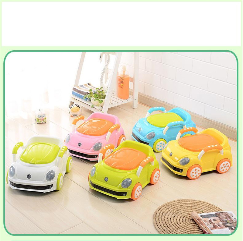 2017 Brand Cute Beetle Car Style Baby Potty Trainer Plastic Kids Toilet Travel Potty Chair Free Shipping Urinary Potty Boy Girl01