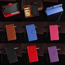 Cheap PU Leather Flip Wallet Phone Case Cover For Sony Xperia Experi Z3 Z 3 Compact Mini D5803 Rose Purple Black Brown Red Blue