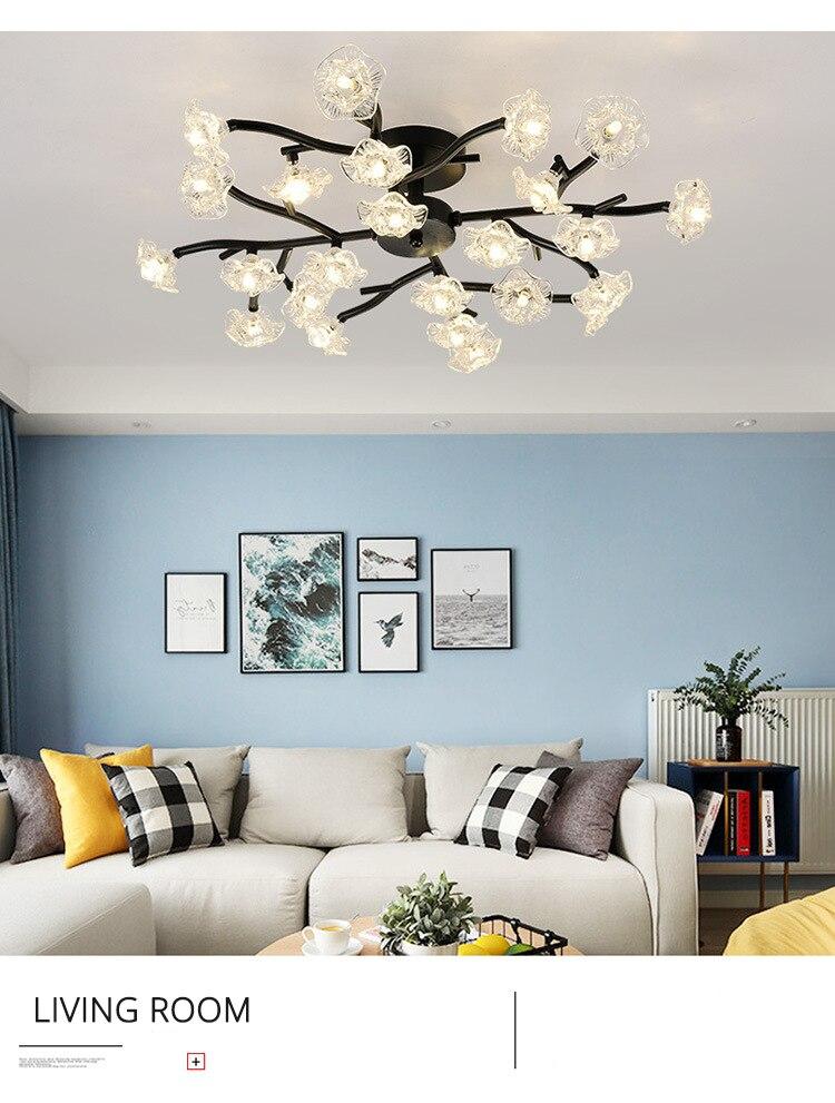 DX Vintage Flower Ceiling Light (4)