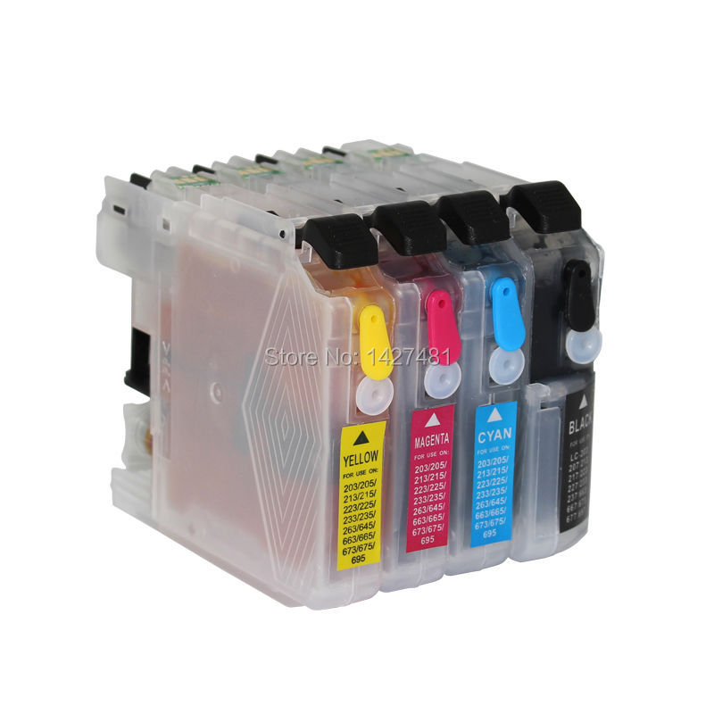 1set Full ink refillable ink cartridge LC207 LC205 for Brother MFC-J4320DW MFC-J4420DW MFC-J4620DW MFC-J5520DW MFC-J5620DW<br><br>Aliexpress