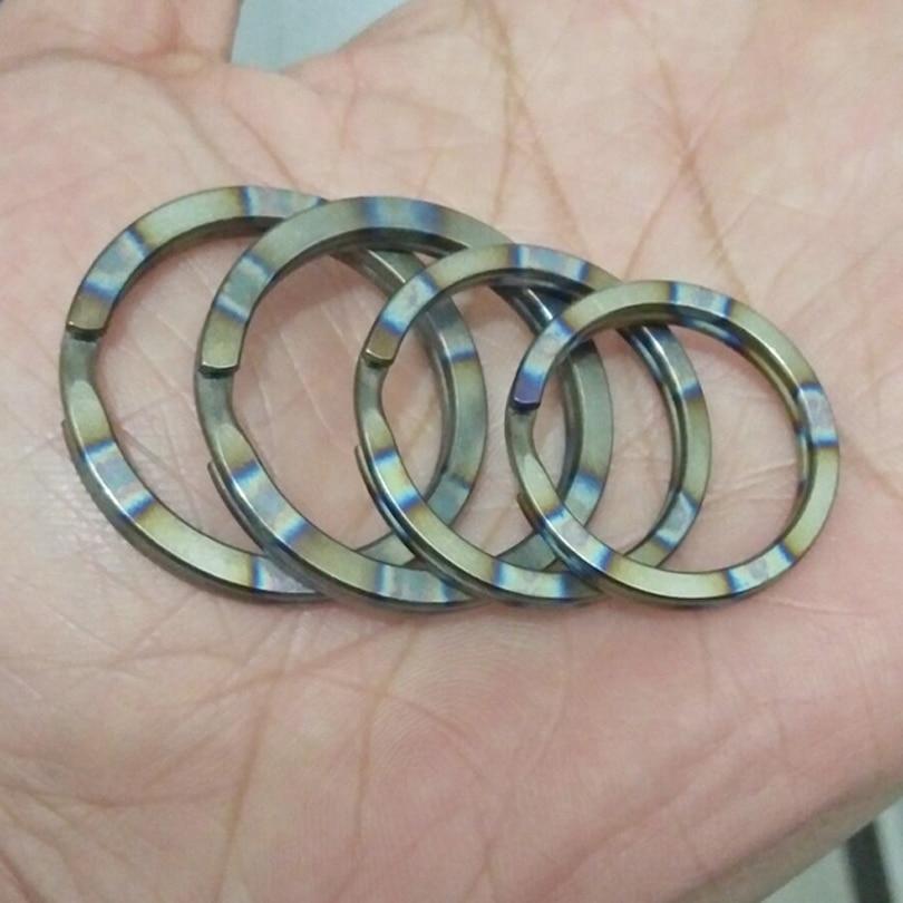 Wholesale EDC Gear Ti Titanium Key Ring Chain Split Ring 4-12/'/' 10-32mm NEW