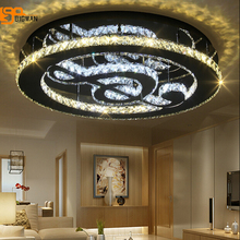 new K9 crystal modern ceiling light LED lamp for living room ceiling fixtures lustre luminare with remote control(China)