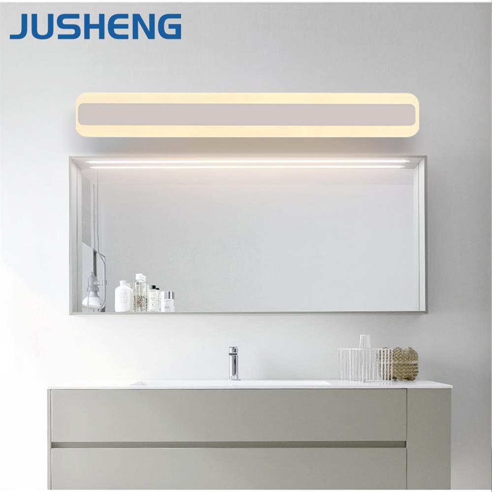 JUSHENG 2017 Modern New Square LED Bathroom Lights Indoor top mirror LED Wall lights Fixtures Vintage 100-240V AC