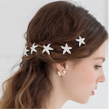 New Fashion Crystal Starfish Hairpin Hair Cut With Bride Bridesmaid Wedding Accessories Accessories Wholesale(China)