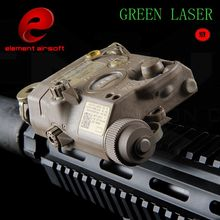 Latest Production Airsoft Element Flashlight LA-5C PEQ UHP Tactical Laser Flashlight Hunting Laser Green Light EX 419 HOT SELL(China)