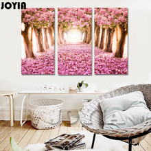 Almond Blossoms Decor Wall Pictures 3 Piece Cherry Blossoms Trees Canvas Print For Living Room Bedroom Wall Decor Gift No Frame