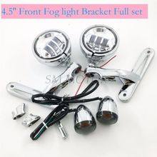 Motorcycle accessories LED Spotlight Turn Signal Passing Fog Light For harley touring street glide road(China)