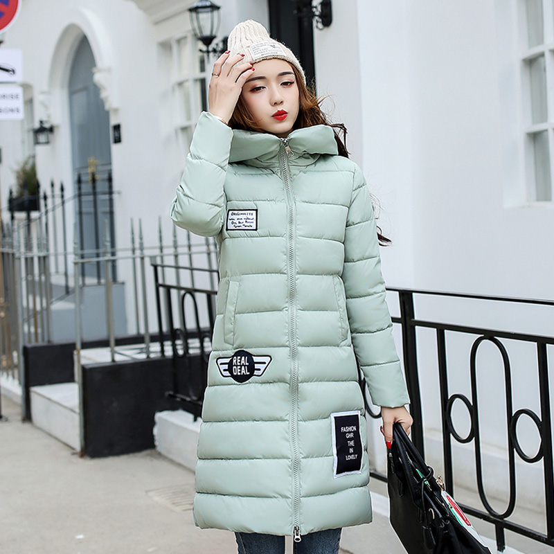 QiWen 2017 Women Fashion Parka Jacket Women Winter Coat Womens Medium-Long Cotton Padded Warm Jacket Coat High Quality Hot SaleÎäåæäà è àêñåññóàðû<br><br>