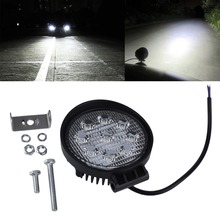 4 Inch 27W 12V 24V LED Work Light Spot/Flood Round LED Offroad Light Lamp Worklight for Off road Motorcycle Car Truck(China)