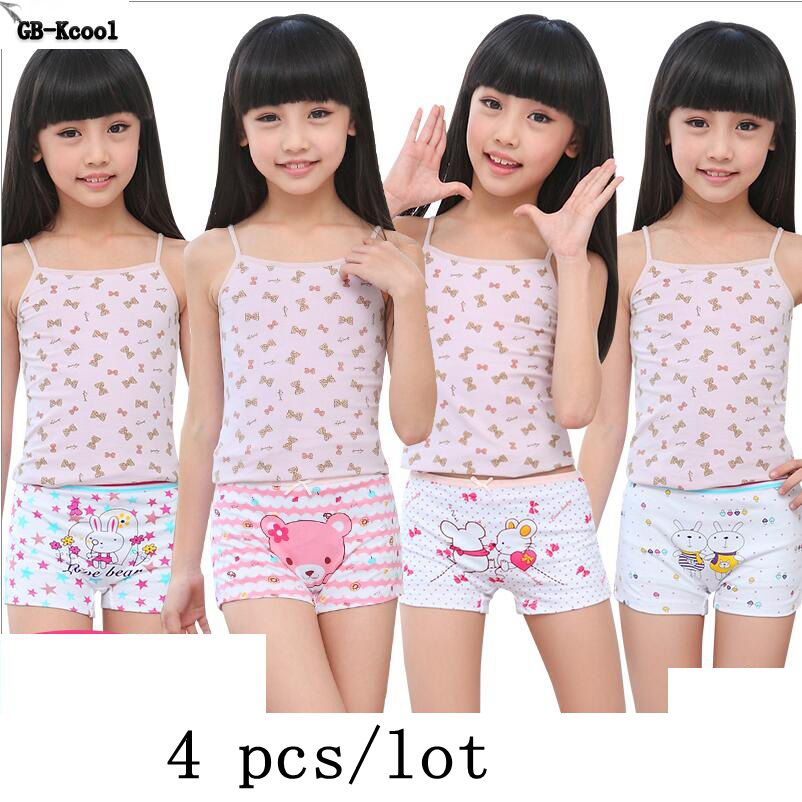 Fashion Summer 2017 Girls Underwear Children Cotton Cartoon Panties Kids Short Briefs Child Underpants 3pcs/pack 4pcs/pack