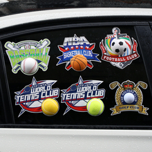 Funny 3D Car Sticker Baes Ball Tennis Basketball Football Golf Club For Volkswagen Skoda Ford Audi BMW  Mercedes Opel Honda Kia