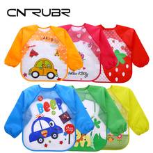 CN-RUBR New Cartoon Baby Bibs Eva Waterproof Baby Feeding Bandana Long Sleeve Art Apron Animal Smock Clothing For Children(China)