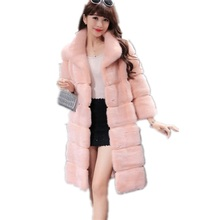 Buy Women's Mink Fur Coats Korean Fashion Plus Size S-4XL Luxury Long Coat Women Elegant Winter Coats Female Hooded Pink Fur Coat for $57.99 in AliExpress store