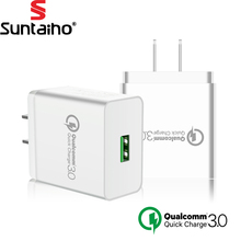 Suntaiho USB Charger Universal Quick Charge 3.0 Fast Mobile Phone Charger Travel Wall Charger Adapter for Samsung Xiaomi LG(China)