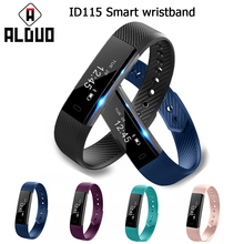 ALANGDUO ID115 Smart Bracelet Fitness Watch Alarm Clock Step Counter Smart Wristband Bluetooth Sport Sleep Tracker Monitor Track(China)