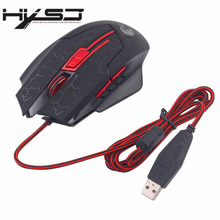 HXSJ Luminescence 6D Crack Pattern USB 2.0 Wired H800 5500DPI Adjustable Firebird branded Gaming mouse 6 Buttons For Computer PC