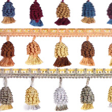 Bed Accessories edge 15 Meter Long 60 mm High Bead Ribbon For home textile Drapery Sewing Decoration Bed Cover Rim Tassel Fringe(China)