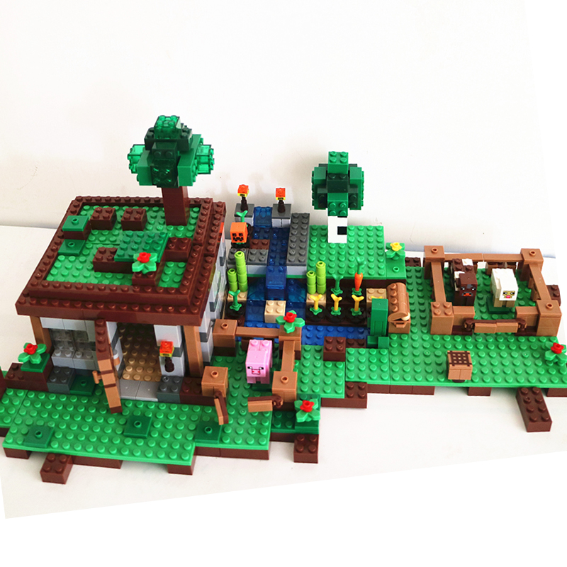 Surprise! 2015 new 670pcs minecraft factory building blocks sets toys Minifigures bricks  free shipping<br><br>Aliexpress