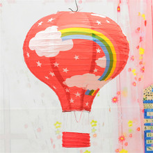 10pcs/lot 12 inch(30cm*45cm) Multicolor Hot Air Balloon Paper Lantern Wishing Lanterns for Birthday Wedding Party Decor Gift(China)