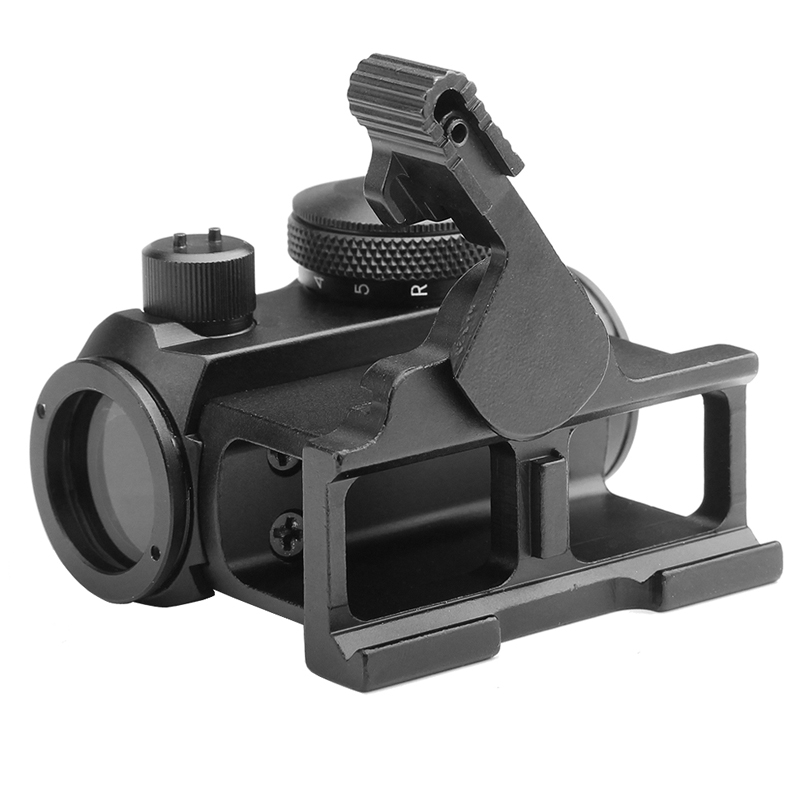 Tactical Mini 1X24 Red Dot Sight Scope with QD Quick Release Mount for Hunting Airsoft RL5-0039-07