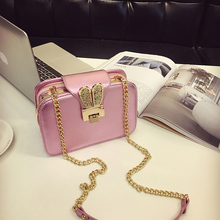 Challen 2017 New Fashion PU Leather Lady Shoulder Bags Three Interior Pockets Imitation Diamond Decorated Crossbody Bags 2074-3