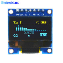 "3-5V 0.96"" SPI Serial 128X64 OLED LCD LED Display Module Blue Yellow For Arduino(China)"
