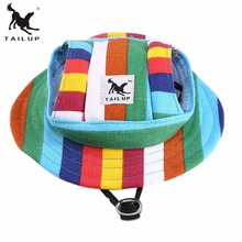 Tailup Brand Mesh Cloth Breathable Pet Hat Cat Dog Summer Beach Princess Hat Sunshade Hat Stripe Pattern