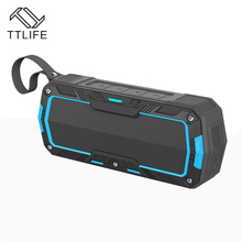 TTLIFE Waterproof Bluetooth Speaker Portable Outdoor Wireless Sound System Powerful Bass Clear Treble Dust and Shock Resistant