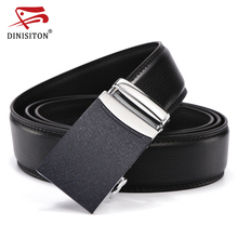 DINISITON Automatic Belt Cow Genuine Leather Strap Male Automatic Buckle Belts For Men New Design Good Fashion Waistband Luxury(China)