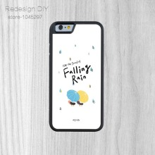 DIY 1PC Custom like the sound of falling rain Phone Case For iPhone 6 6s And 4 4s 5 5s 5c 6 Plus protective back skin