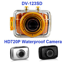 winait disposable china cheap sport digital camerea DV-123SD 4x digital zoom waterproof camcorder free shipping
