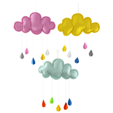 Kids Play Tent Decoration Tent Props Toy Raining Clouds Water Drop Baby Bed Room Hanging Decor Wall Stickers(China)