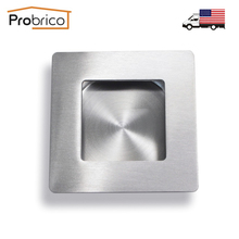 Probrico Square Recessed Sliding Cabinet Door Handlle MH009SS70 Stainless Steel Furniture Finger Pull USA Domestic Delivery(China)