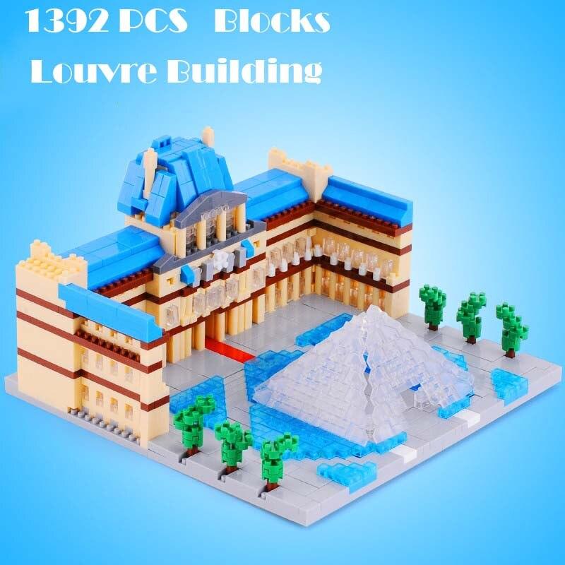 Louvre Building Shape Blocks Model Diamond Plastic Unisex Kits Block Educational Toys Sets Children Gifts YZ054 VS Lepin 15003 2<br><br>Aliexpress