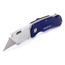WORKPRO Folding Knife Outdoor Camping Survival Knife Pocket Knife Utility Knife Quick-change mechanism