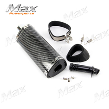 Buy Off-road motorcycle 38mm Carbon fiber Color Exhaust Muffler Movable Silencer Mute Fit Scooter Dirt Pit Bike for $46.71 in AliExpress store