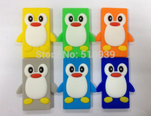 1pcs New Cute 3D Cartoon Penguin Silicone Case for Apple iPod Nano 7 7G 7gen 7TH rubber cases back cover skin free shipping