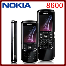 8600 Unlocked Original Nokia 8600 Luna Mobile cell phone english russian keyboard&language Free shipping one year warranty