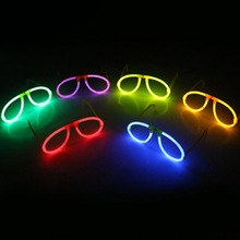 Random Color Glow Fluorescence Glasses LED Skull Glasses Light Luminous Sticks Neon Xmas  Party  0045 Flashing Novelty Toy