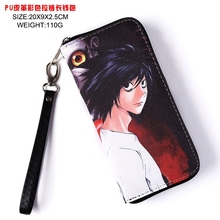 Japan anime Death Note wallet Cosplay Long Leather PU Zipper Purse(China)