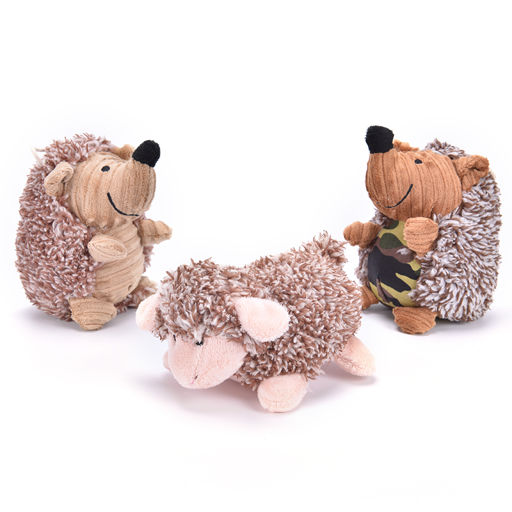 New 10.24*5.51 inch Hedgehog Squeaker  Sound Pet Dog Cat Puppy Chews Training Toys Plush Toy