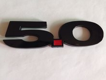 2014 Mustang GT 5.0 Light Black Fender Emblem -50 pcs