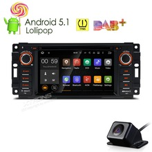 XTRONS 6.2 inch Android 5.1 Car DVD Player 1 din GPS Navigation DAB+TPMSSteering Wheel for JEEP/DODGE/CHRYSLER+Reverse Camera