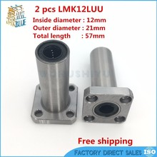 3D printer 2pcs/lot LMK12LUU 12mm Longer Round Flanged Type Linear Bushing Ball Bearing CNC parts for RepRap Ultimaker 2(China)