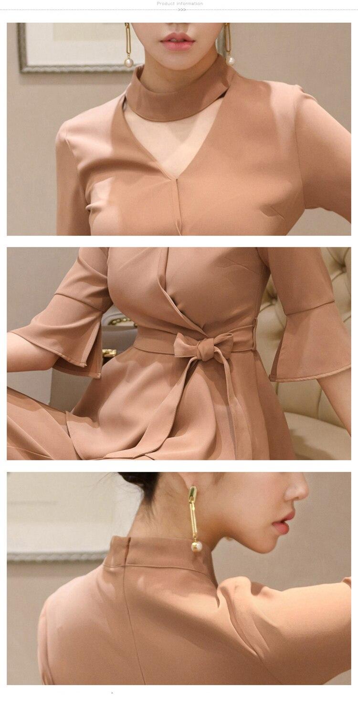 women elegant office work wear style pants suit autumn 0 (9)