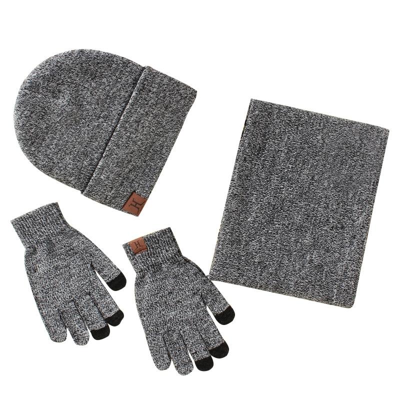 scarf gloves hat set women men winter scarf hat set winter hat scarf and glove set smart touch screen texting gloves set (10)