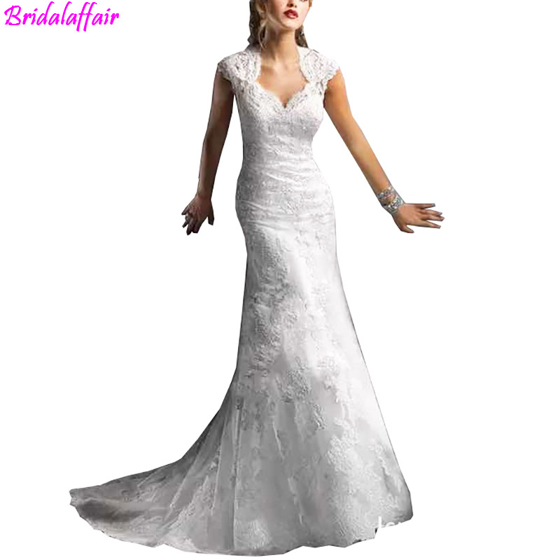 2019 Custom Made Plus Size Lace Mermaid Slim Bride Wedding Dress Sexy Wedding Dresses Bride Gown Robe De Mariee
