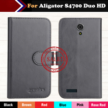 Factory Direct! For Aligator S4700 Duo HD Case 6 Colors Luxury Ultra-thin Leather Exclusive Special Phone Cover Cases+Tracking
