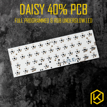daisy 40% Custom Mechanical Keyboard Kit Supports TKG-TOOLS Underglow RGB led PCB 40% programmed mx alps matias double spacebar(China)